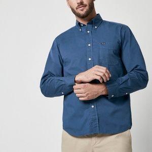 Facconable • Men's Cotton Blue Button Down Shirt